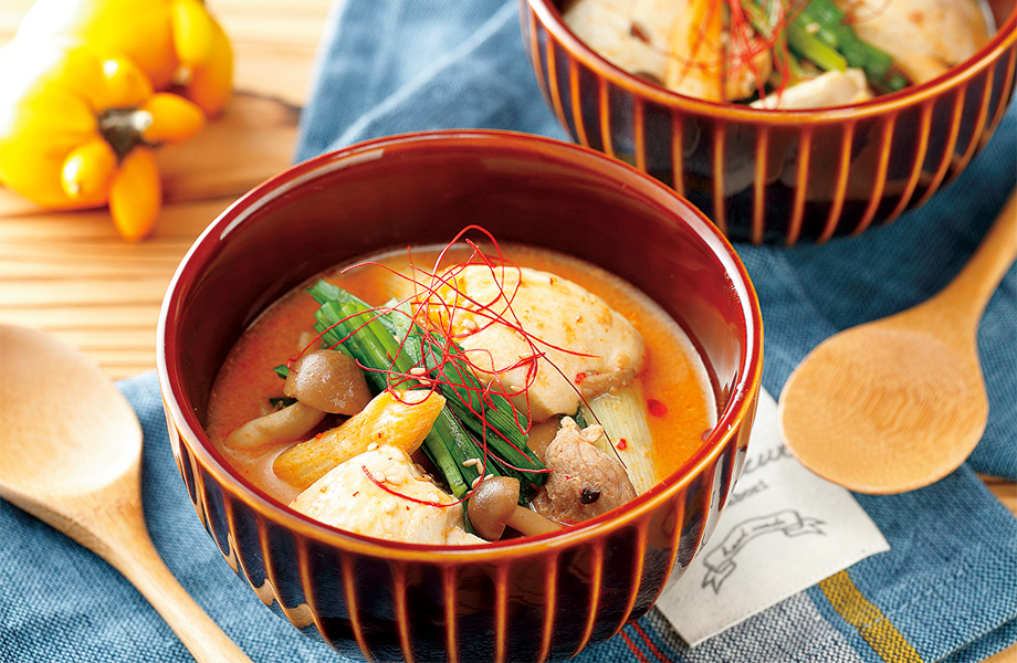 写真: 豆乳入りでコク旨♪スンドゥブチゲスープ