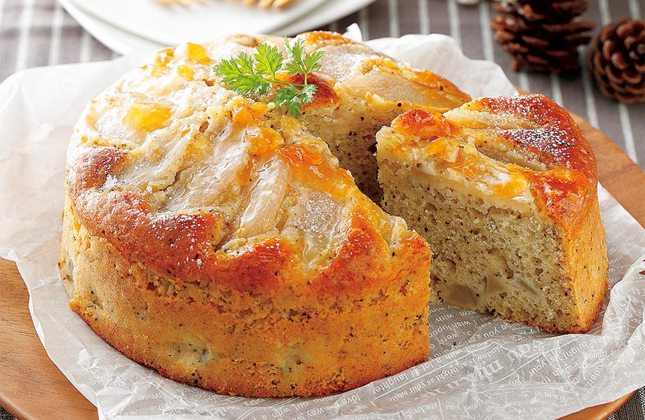 写真: ホットケーキミックスで簡単! 梨と紅茶のパウンドケーキ