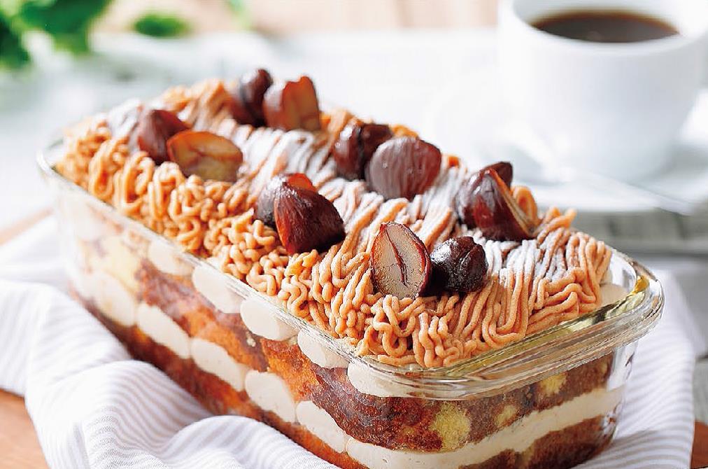写真: モンブラン風ティラミスのスコップケーキ