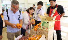 【試食販売】香港の客に熊本産アピール 県など協議会中旬まで8回 輸出拡大へ空港で販促/JA熊本うき