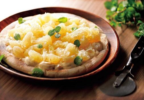 写真: 晩白柚で♪簡単デザートPIZZA
