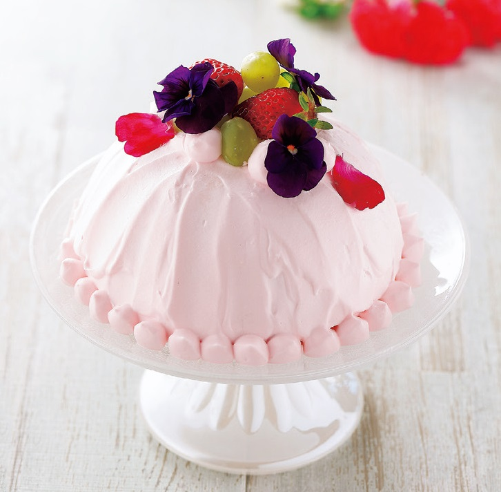 写真: オーブン不要♪ レアチーズのドームケーキ
