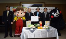 【コラボ】不二家、県、JA果実連と協定 県産品を利用促進 来月に新商品発売/JA熊本経済連