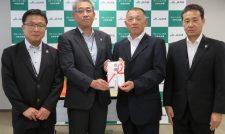 交通事故未然防止機器贈る 自動車指定工場協力会に共済連熊本
